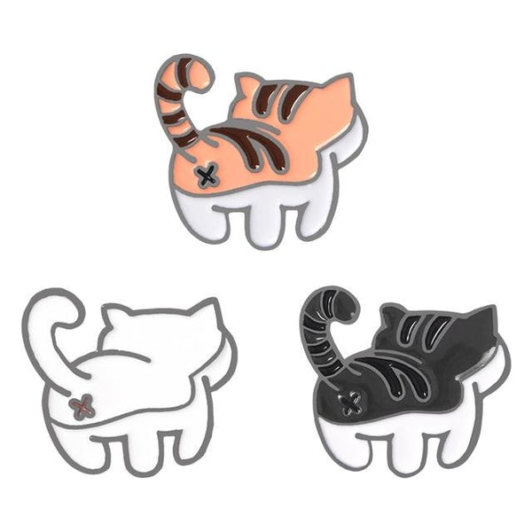 Kitten Bum Enamel Pins - pin