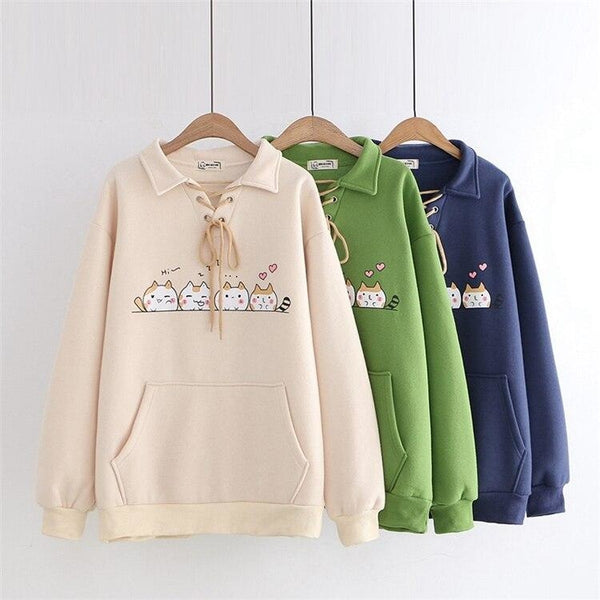 Kitten Line Up Sweater - sweater