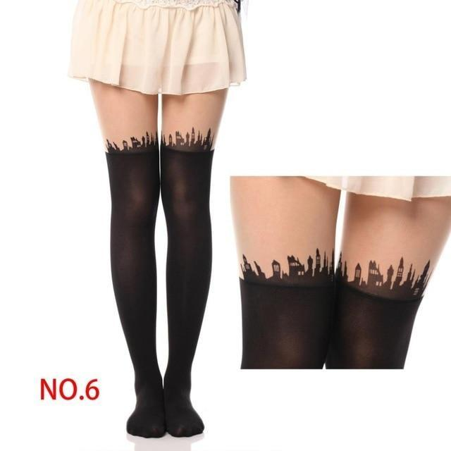 Kawaii Pantyhose Stockings Nylon Socks Cute Harajuku Fashion by DDLG playground