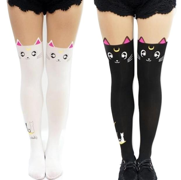 sailor moon cat nylon tights stockings pantyhose kitten cosplay kawaii harajuku fashion