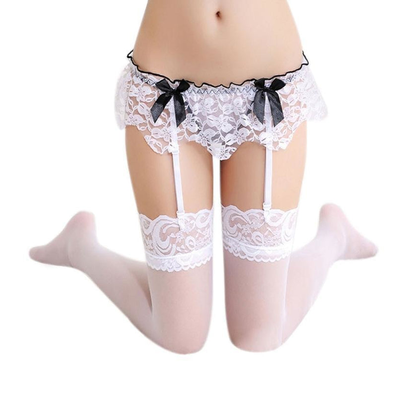 Sexy garter belt stockings hold up clips lace intimate lingerie wear bedroom by ddlg playground