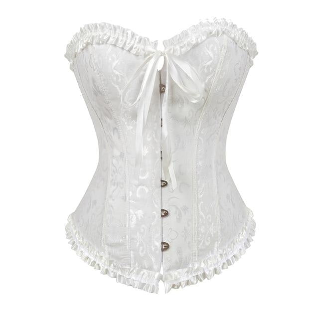 Lady In Lace Genuine Corsets - White / 5XL - bustier