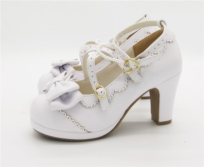 Little Lady Lolita Heels - age regression, bows, cat lolita, egl, fairy kei