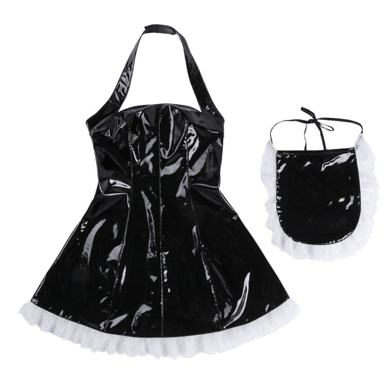 Latex Maid Dress - dress