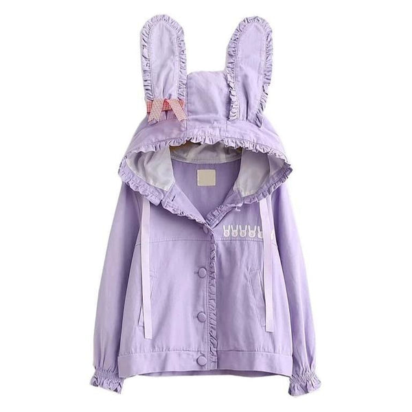 Lavender Bun Windbreaker - Purple - coat