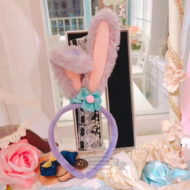 Lavender Purple Stellalou Bunny Ear Headband Rabbit Ears Accessory Headwear Cute Kawaii
