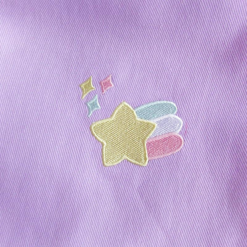 Lavender Pastel Purple Rainbow Pants Trousers Fairy Kei Yume Kawaii Harajuku Fashion