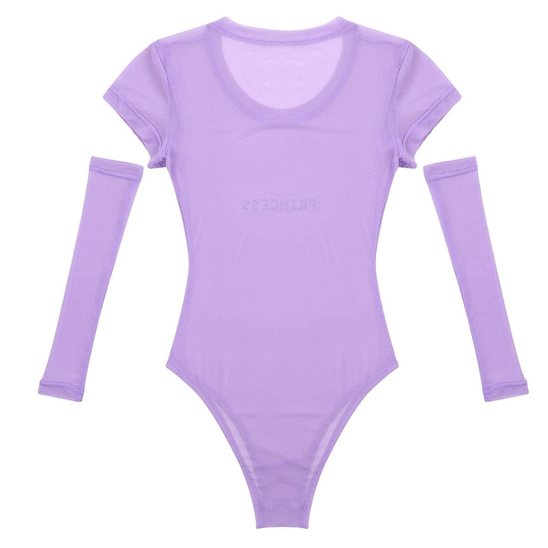 Lavender Princess Onesie - arm sleeves, clear, jumpsuit, jumpsuits, onesi