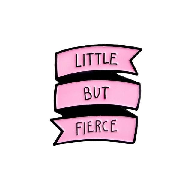 Little But Fierce Enamel Pin Kawaii ABDL Lapel Brooch Age Play Kink Fetish by DDLG Playground