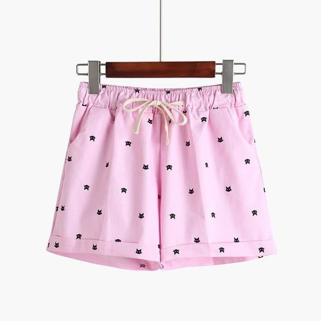 Little Kitten Shorts - Pink - shorts
