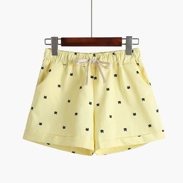 Little Kitten Shorts - Yellow - shorts