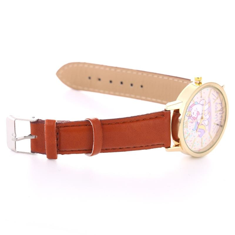 Cute Brown Magical Unicorn Pony Wrist Watch Bracelet Wristwatch Kawaii Little Space Fashion