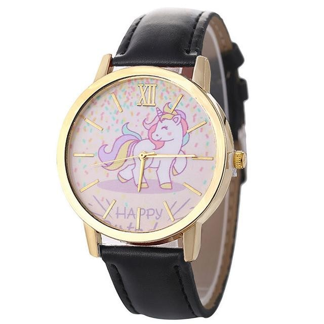 Cute Black Magical Unicorn Pony Wrist Watch Bracelet Wristwatch Kawaii Little Space Fashion