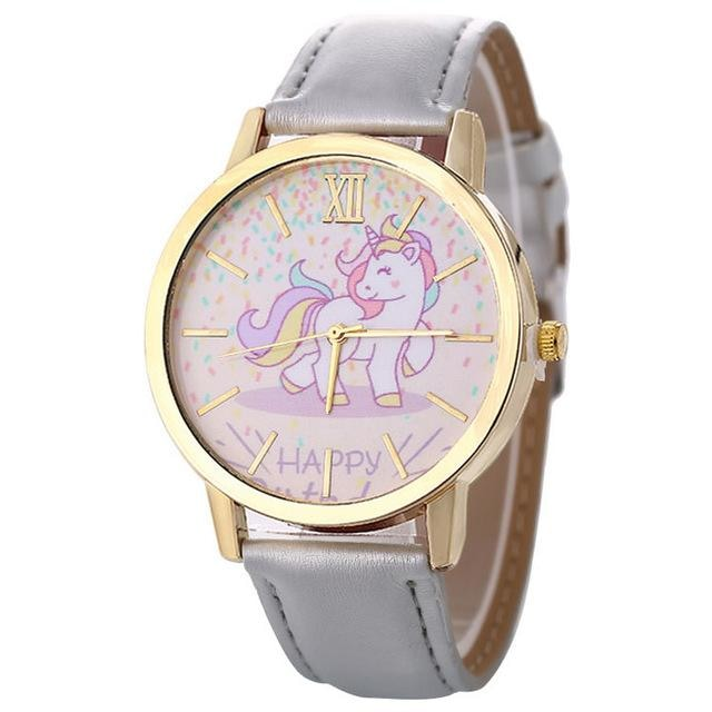 Cute Grey Magical Unicorn Pony Wrist Watch Bracelet Wristwatch Kawaii Little Space Fashion