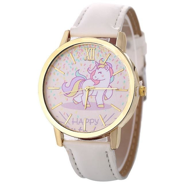 Cute White Magical Unicorn Pony Wrist Watch Bracelet Wristwatch Kawaii Little Space Fashion