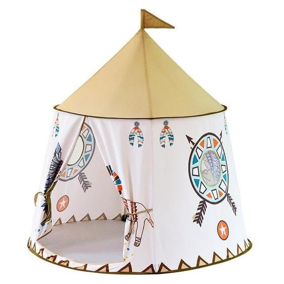 Tipi Teepee Play Tent ball Pit Indian Native Mohawk Tan Brown White ABDL CGL Littlespace by DDLG Playground