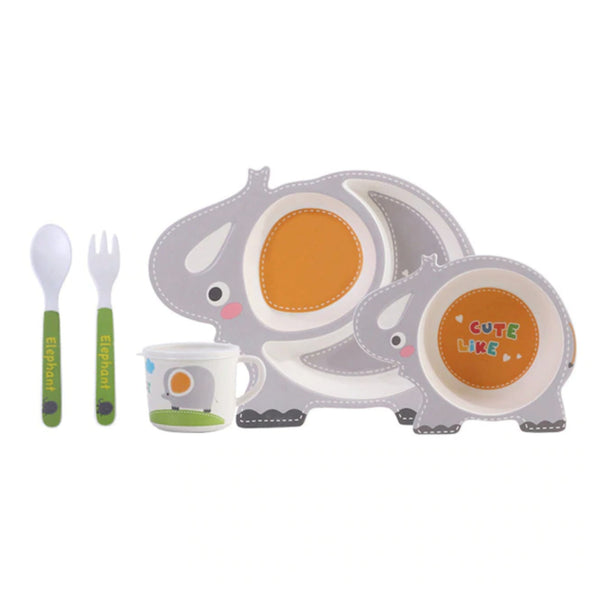 I Love You A Ton Dinner Set - bowl, bowls, cartoon, cup, cups