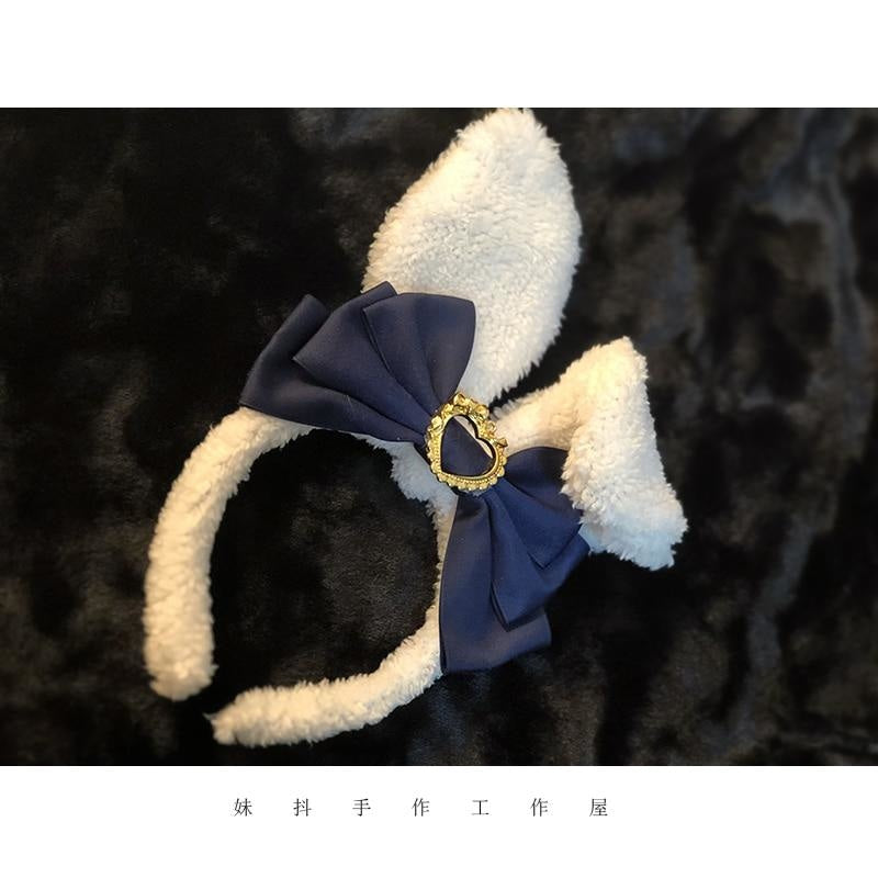 Luxury Bunny Headband - Black - bags