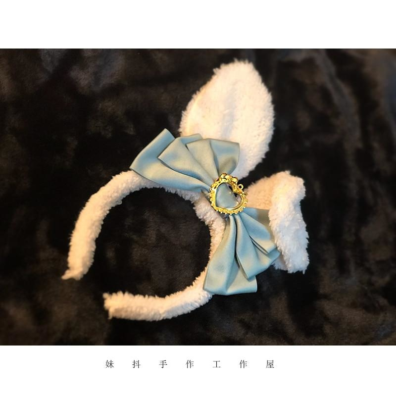 Luxury Bunny Headband - Dark Blue - bags