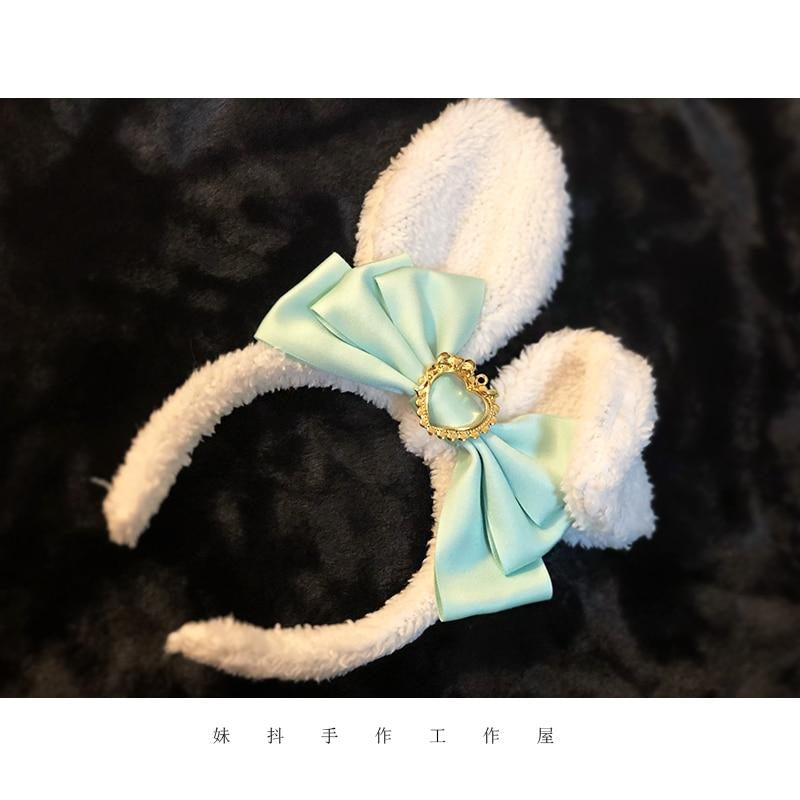 Luxury Bunny Headband - Emerald - bags