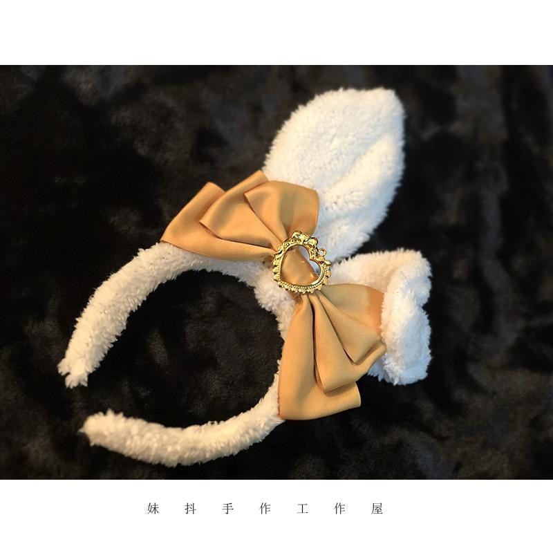 Luxury Bunny Headband - Orange - bags