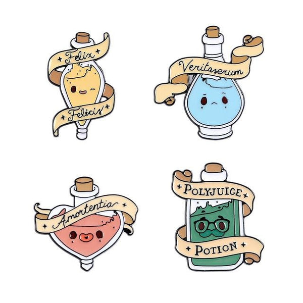 Magical Potion Enamel Pins - Set Of 4 (Save $10) - pin