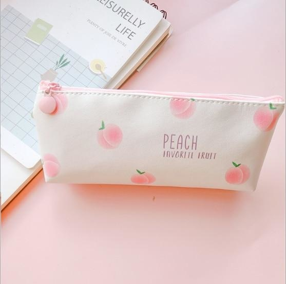 Majestic Unicorn Pencil Case - Peach 3 - bag