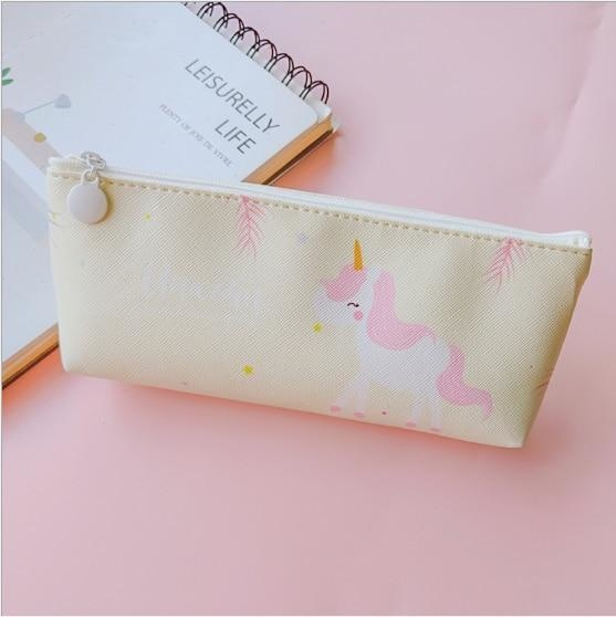 Majestic Unicorn Pencil Case - Yellow Unicorn - bag