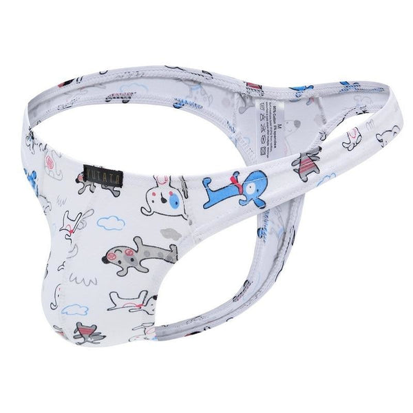 Mens Littlespace Thongs - Dogs / S - abdl, adult baby, baby boy, boys, ddlb