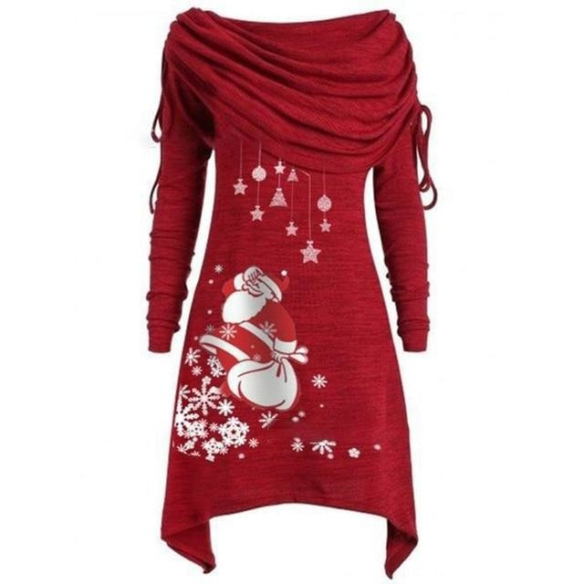 Merry Sweater Dress - Burgundy / 4XL - dress
