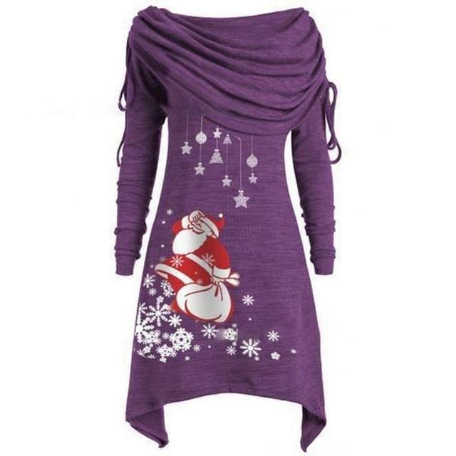 Merry Sweater Dress - Purple / 4XL - dress