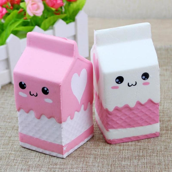 kawaii milk carton strawberry milk squeeze toy squishy soft plush pink and white fairy kei autistic austism stimming tool cgl age regression little space by ddlg playground