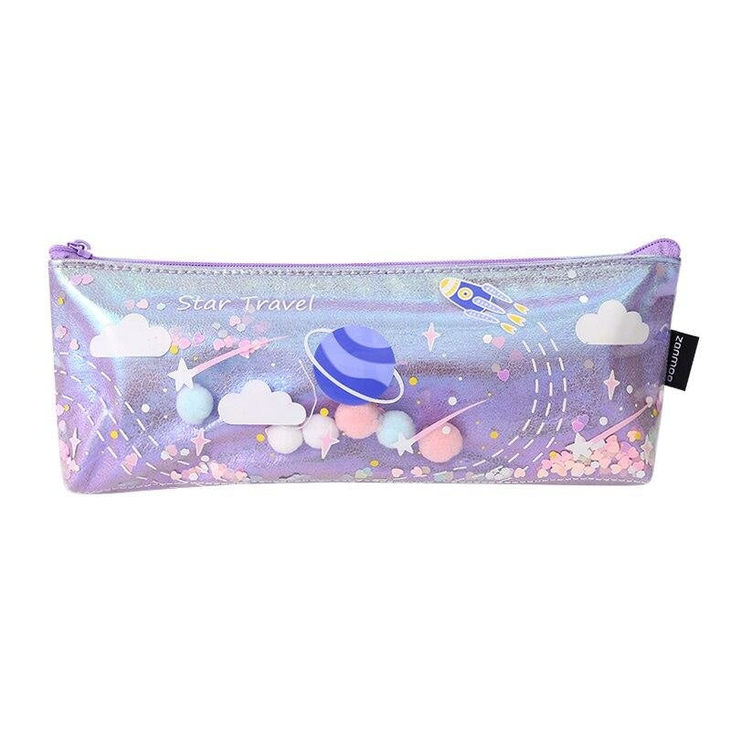 Milky Galaxy Cosmetic Bag - Purple Planets - accessories
