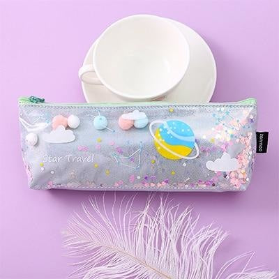 Milky Galaxy Cosmetic Bag - Silver Planets - accessories