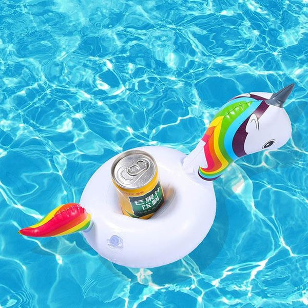 Miniature Bath Floaties - Rainbow Unicorn - Bath Toy