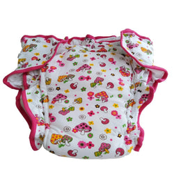 Mushroom Princess Diaper - L - cloth diapers, diaper, mushrooms, padded