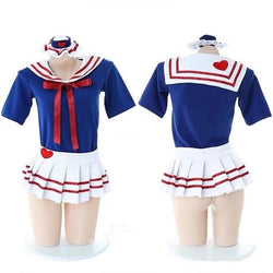 Navy Baby Cosplay - Just Outfit - beach, cheerleader, costume, navy, pleated skirt