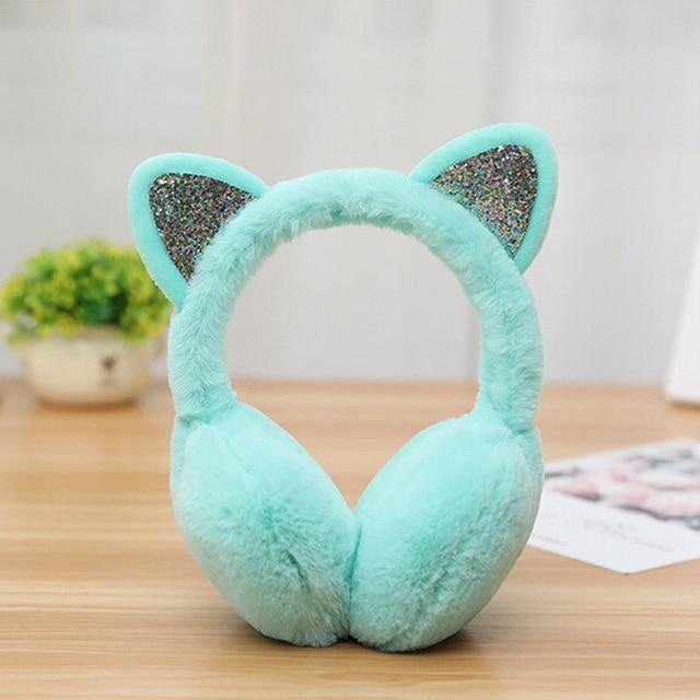 Neko Ear Muffs - Teal - ear muffs
