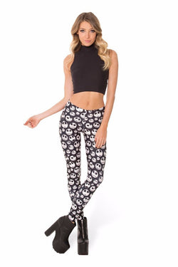 Nightmare Leggings - Skulls / S - leggings
