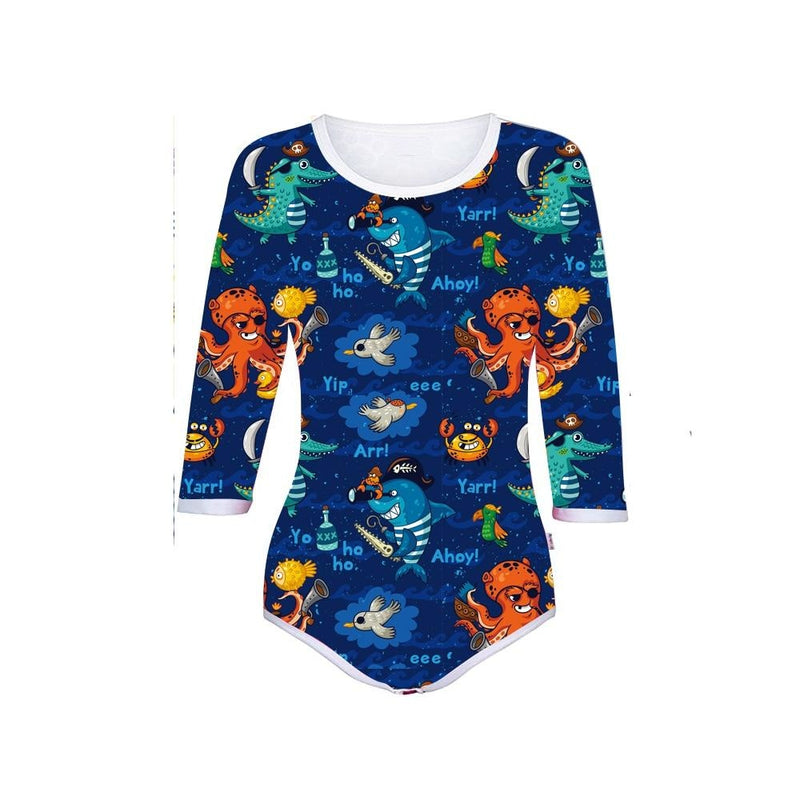 Oceanic Pirate Onesie - ab dl, abdl, abstract, adult babies, baby
