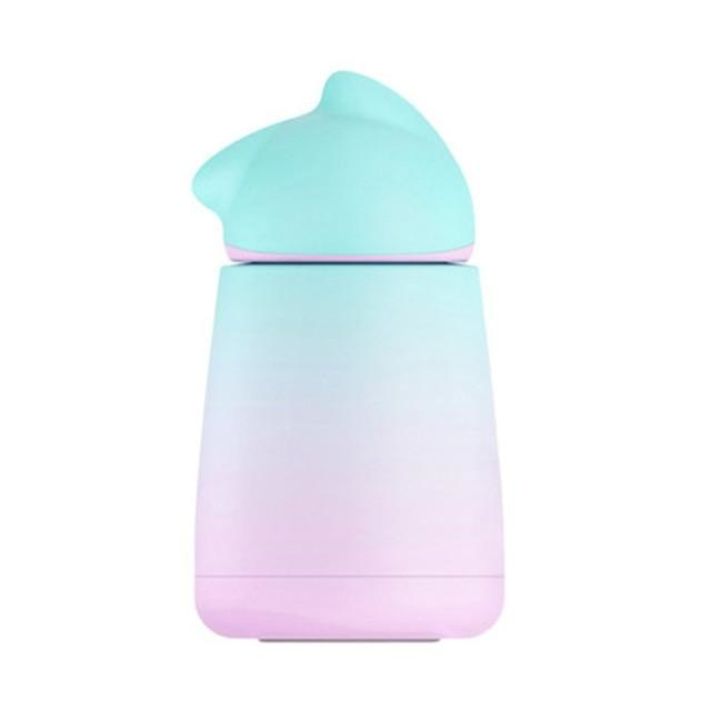 Kawaii Cute Pastel Kitten Water Bottle Drinking Cup Glass Stainless Steel Ombre Gradient Colors
