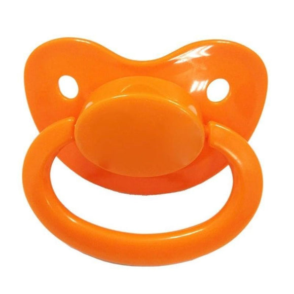 Orange Adult Pacifier Binkie Soother ABDL CGL Age Play Fetish Kink by DDLG Playground