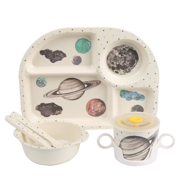 Outer Space Dinner Set - bamboo, bowl, bowls, bpa free, cartoon