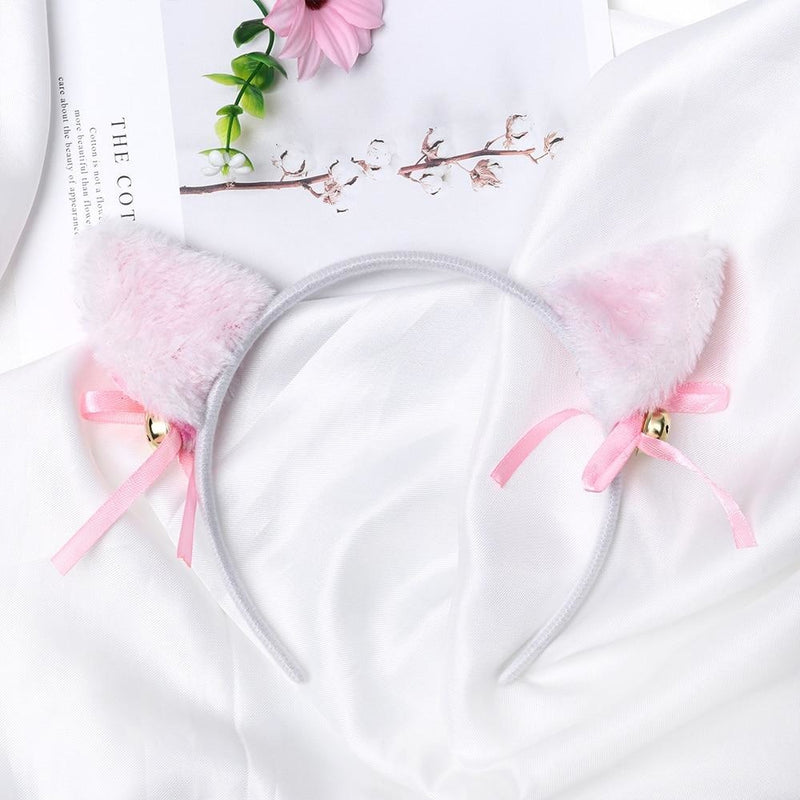 Pastel Neko Ears - White - headband