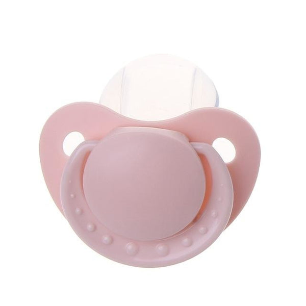 Pastel Pink Adult Pacifier 100% Safe BPA Free Rubber Binkie Soother Paci ABDL CGL Kink Fetish by DDLG Playground