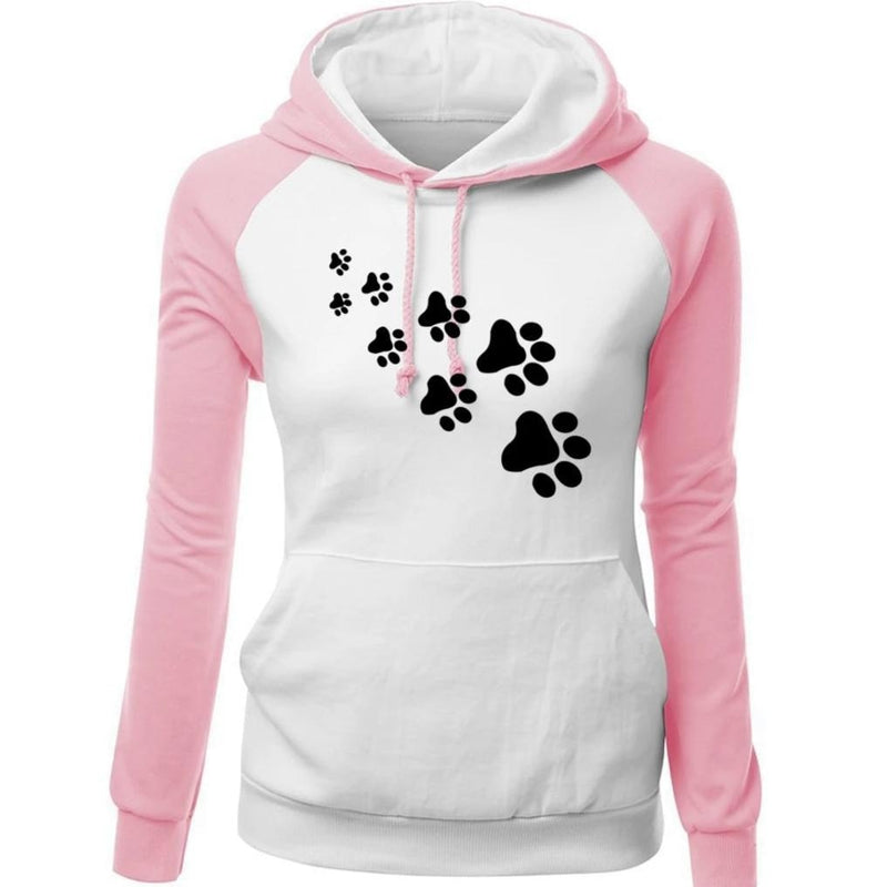 Paw Print Puppy Hoodie - Sweater