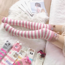 Pink Bear Thigh Highs - abdl, adult babies, baby, baby diaper lover, age play