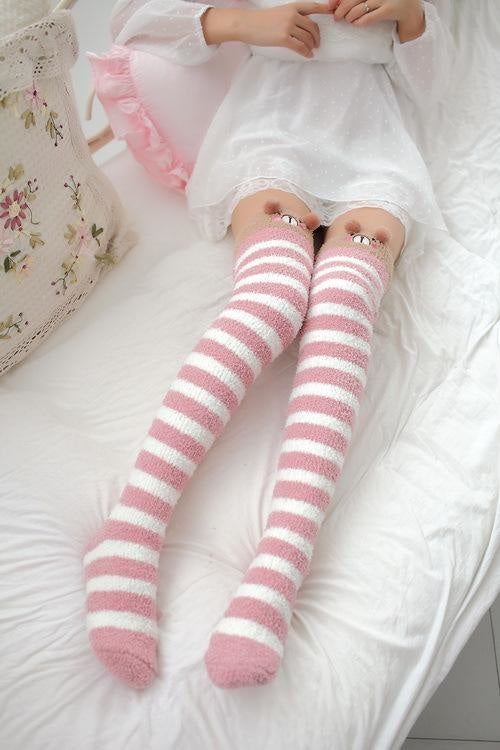 Pink Bear Thigh Highs - abdl,adult babies,adult baby,adult baby diaper lover,age play