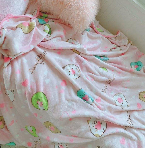 Pink Hamster Fuzzy Blanket - pillow