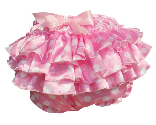Pink Ruffled Polkadot Sissy Plastic Pants Diaper Cover ABDL Adult Baby Ageplayer CGL Kink Fetish by DDLG Playground